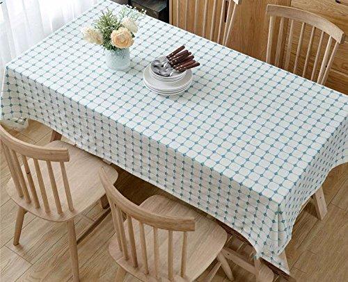 WFLJL tovaglia Il Cotone e Il Lino Stile Giapponese Piccola Fresco tavolino da caffè Rural colore Solido rettangolo Ispessimento Blu Reticolo 130  240cm