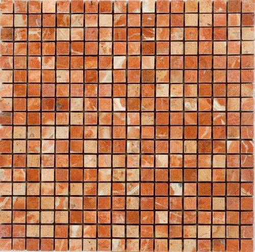Epoch Tile RA5-8 5/8 x 5/8 Rojo Alicante Polished Marble (Alicante Rojo Marble)