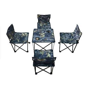 Amazon.com: PeiQiH - Taburetes de camping, mesa y silla ...