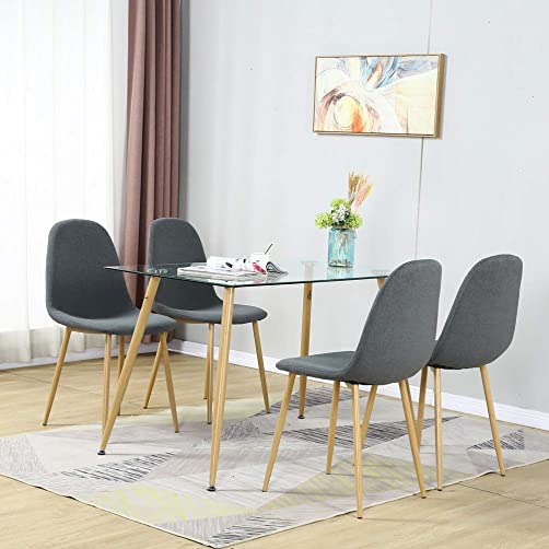 5 Pieces Modern Dining Table Set