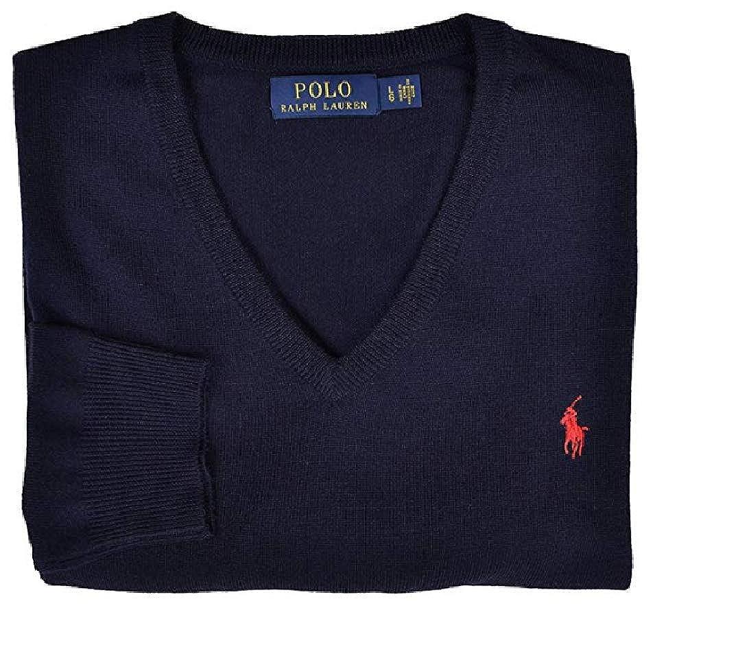 e2361a1aab7 Ralph Lauren Pull Homme Navy 100% Laine (L)  Amazon.fr  Vêtements et  accessoires