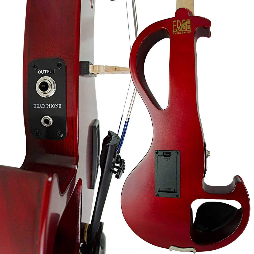 Bunnel EDGE Clearance Electric Violin Outfit Amp Included BE300 (Rockstar Red) by Kennedy Violins (Image #3)