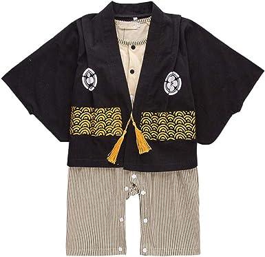 Bebé Kimono Mamelucos Algodón Mono - Niño de Manga Larga Bata Chicas Trajes de Estilo Japonés (70-95CM): Amazon.es: Ropa y accesorios
