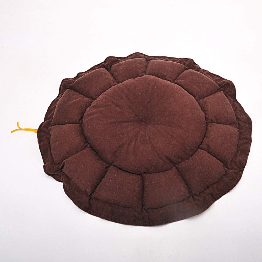 Brown L Brown L FELICIOO Drawstring Monochrome Round Cat Litter Pet Kennel Dog Bed (color   Brown, Size   L)
