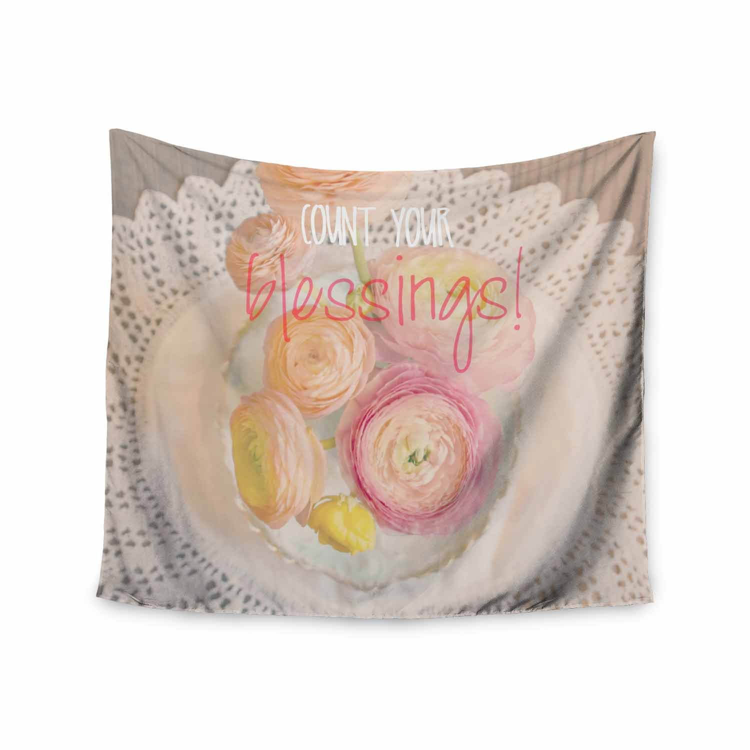 Kess InHouse Robin Dickinson Count Your Blessings II Pastel Pink Photography Wall Tapestry