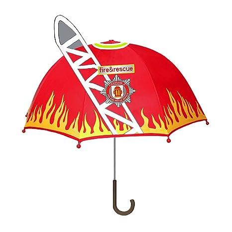 Kidorable Paraguas Bombero, color rojo