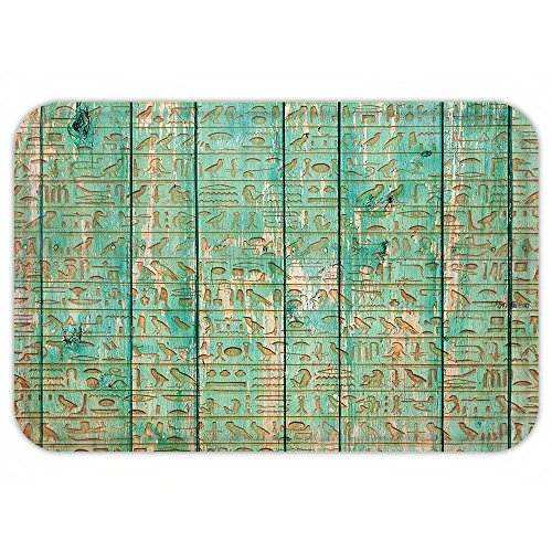 Mummy Costume Images (Kisscase Custom Door MatEgypt Decor Ancient HyeroglyphIconon Wooden Board Mystic Egyptian Mummy Motherland Image Seafoam)