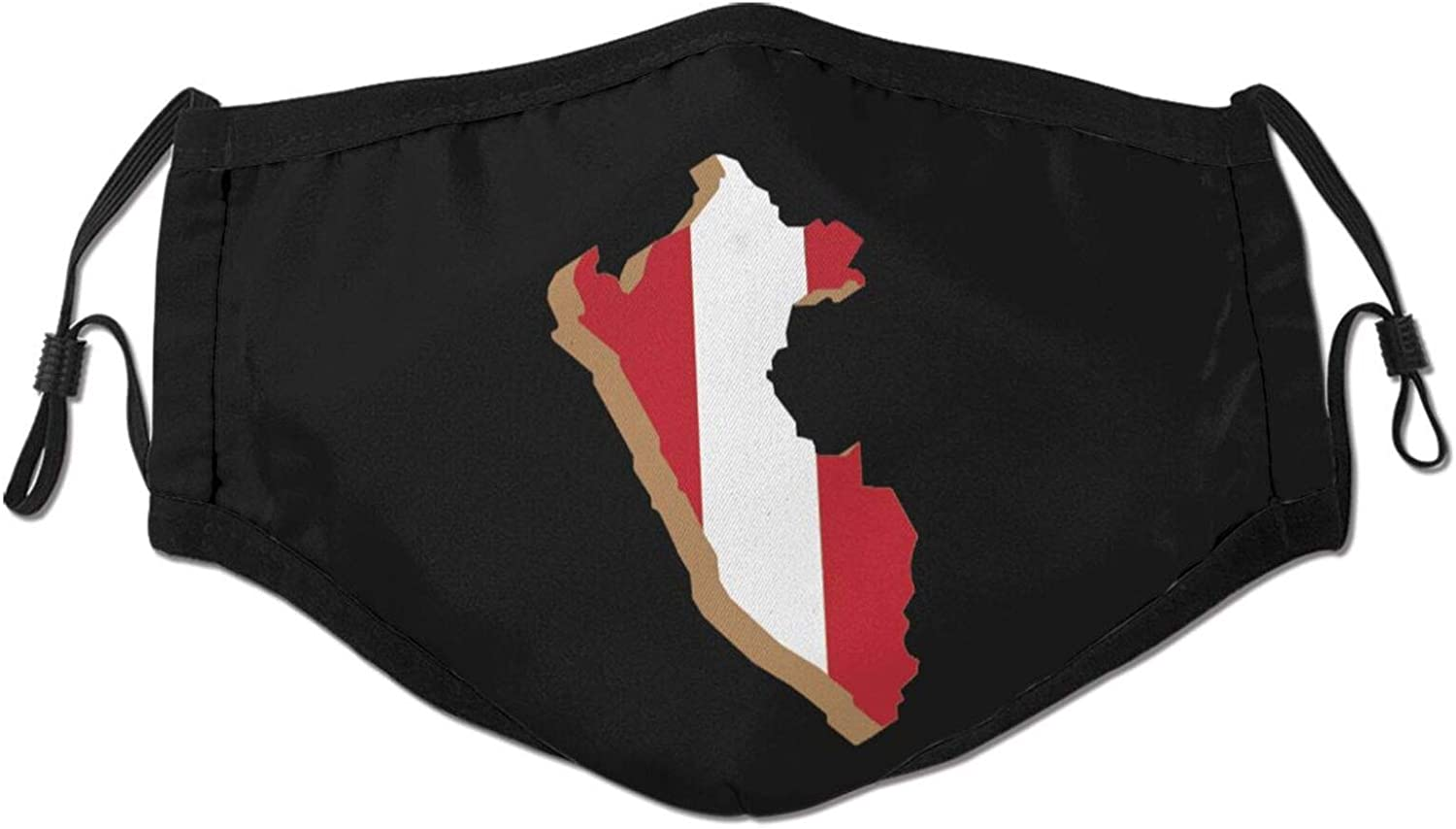 Peru Flag Peruvian Dust Mask Face Masks Breathable Anti-Dust Face Scarf