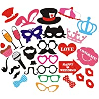 New Style Party Props Photo Booth Props Fashion Hat Headband Glasses Moustache Mouth Bow tie Birthday Engagement Wedding…