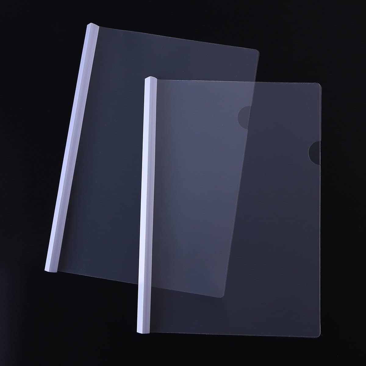 yeahibaby Display Folder Clear A4/Report File Organizer Cover Sliding Bar Report Binding Covers 10/Pcs