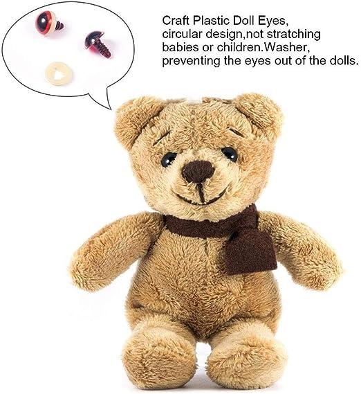 Ojos y narices de seguridad de pl/ástico colorido de 592 piezas para mu/ñecas marionetas animales de peluche y osos de peluche