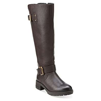 CLARKS Women's Reunite Hi GTX Winter Boot, Dark Brown Leather, ...