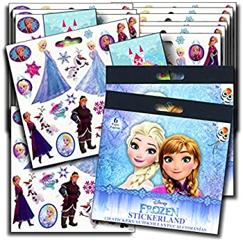 DISNEY FROZEN Stickers Party Favors - Bundle of 12 Sheets 240+ Stickers plus 2 Specialty Stickers!