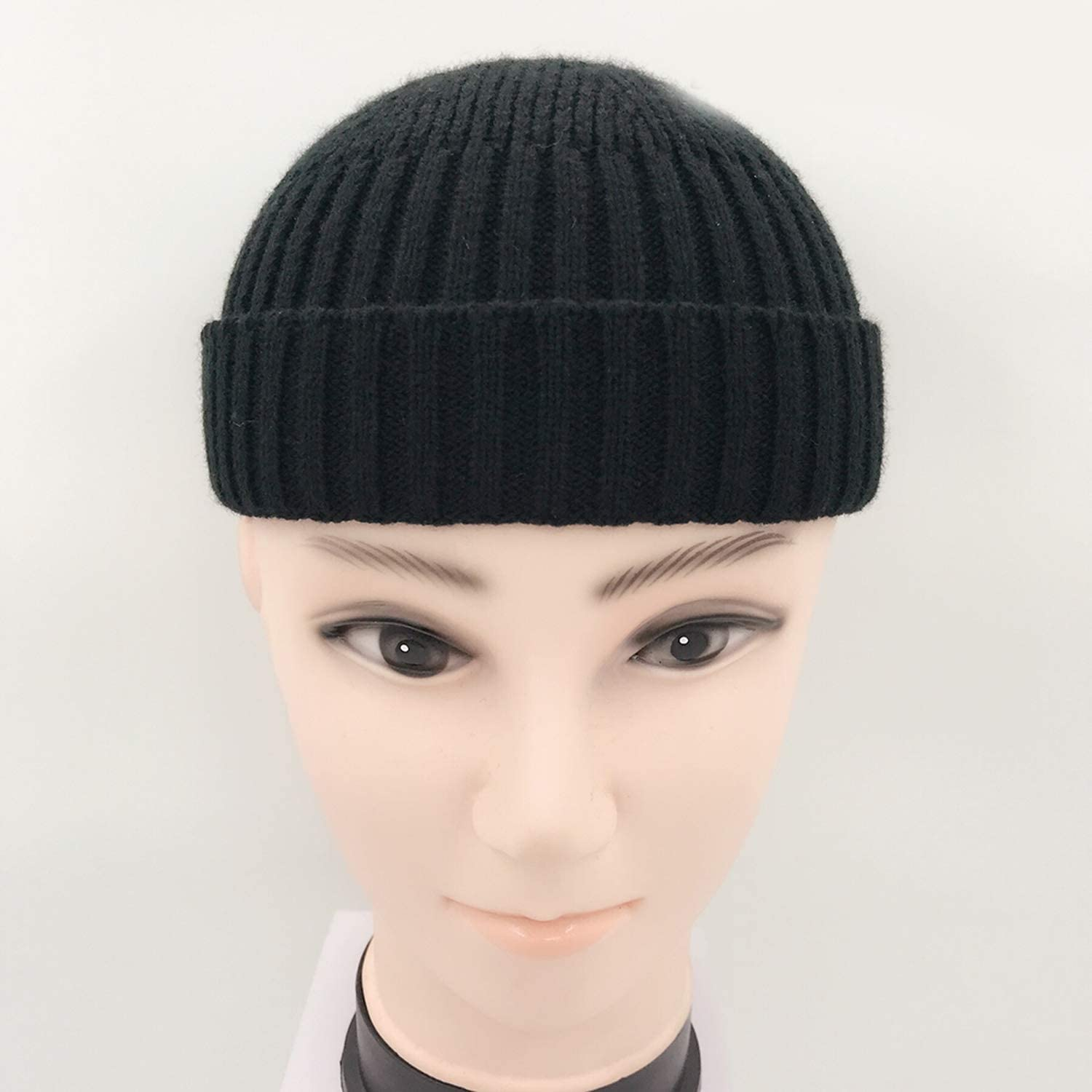 Mageed Anna Adult Men Knitted Skullcap Casual Short Cotton Thread Hip Hop Hat Retro Navy Fashion Warm Beanie Skullcap