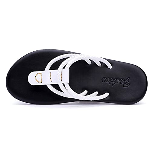 664284400 Sonjer Hot Sell 2018 Summer Beach Flip Flops Men Pu Leather Slippers Twist  Male Flats Sandals Two Way Outdoor Thong Beach Shoes White 6.5  Amazon.ca   Shoes ...
