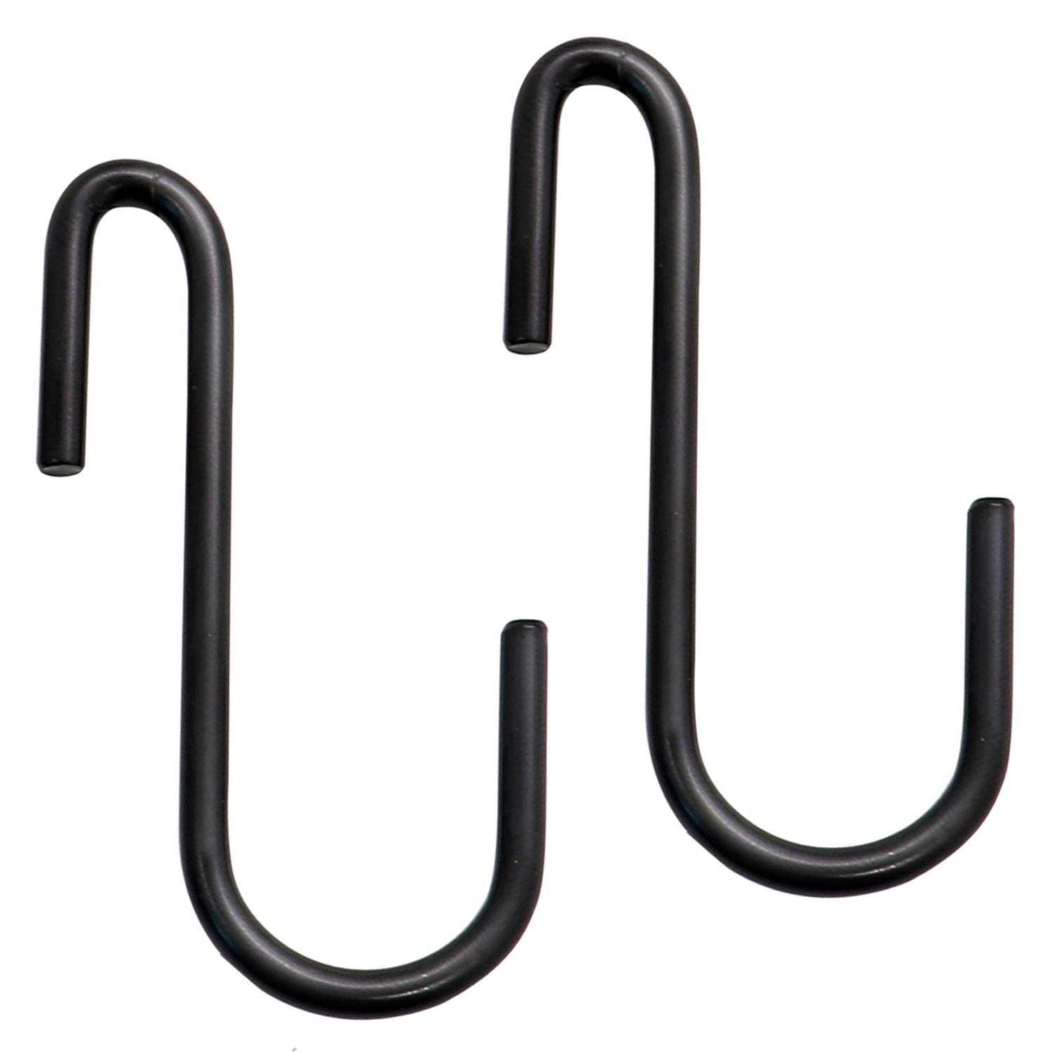 30 Pack Esfun Heavy Duty S Hooks Black S Shaped Hooks Hanging Hangers Pan Pot Holder Rack Hooks for Kitchenware Spoons Pans Pots Utensils Clothes Bags Towels Plants …