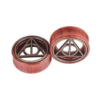 FENICAL Expansores de Túnel Plugs de Madera Pendientes Dilatadores de Oreja Piercing Joyas Expansores Oreja 8mm 2 Piezas: Amazon.es: Hogar