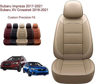 2017-2021 Impreza// 2018-2021 XV, Black OASIS AUTO 2017-2021 Impreza /& 2018-2021 XV Crosstrek Custom Fit PU Leather Seat Cover Compatible with 2017-2018-2019-2020-2021 Subaru Impreza//XV