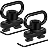 Bengor QD Sling Mount Sling Swivels, 2 Pack Sturdy Quick Detach & Rotatable Locking Design 1.25Inches Heavy Push Button…