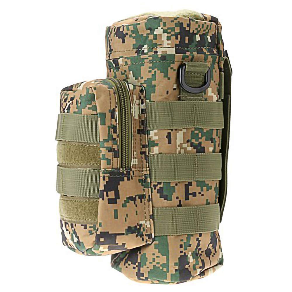 Fippy Military Bottle Pouch Holder T/áctico Hervidor Bolsa con Bolsa de Accesorios adicionales Camuflaje de la Selva