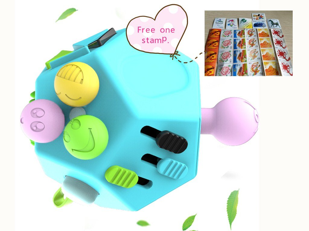 Fidget Cube, OOYE Blue 12 Sides Cube, Dodecagon Relieves Anxiety Anti depression cube for Children and Adults