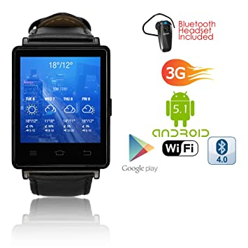 Indigi® organizar Smartwatch teléfono 3 G gsm Desbloqueado Android ...