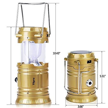 GOOSEBERRY® LED Solar Emergency Light Lantern + USB Mobile Charging point, 3 Power Source Solar, Battery, Lithium Battery, Travel Camping Lantern - (Blue, Black, Golden, Brown) - Color will be as per stock