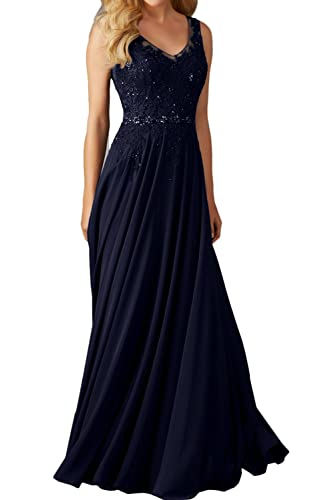 Ivydressing A-line V-neck Lace Mother of the Bride Evening Dresses Long 2017