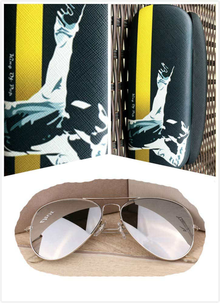 Men's Michael Jackson Sunglasses Adults Cosplay Sunglasses Costume Accessory (One Size, Glasses+Case2+ Cloth2) by Ciguo