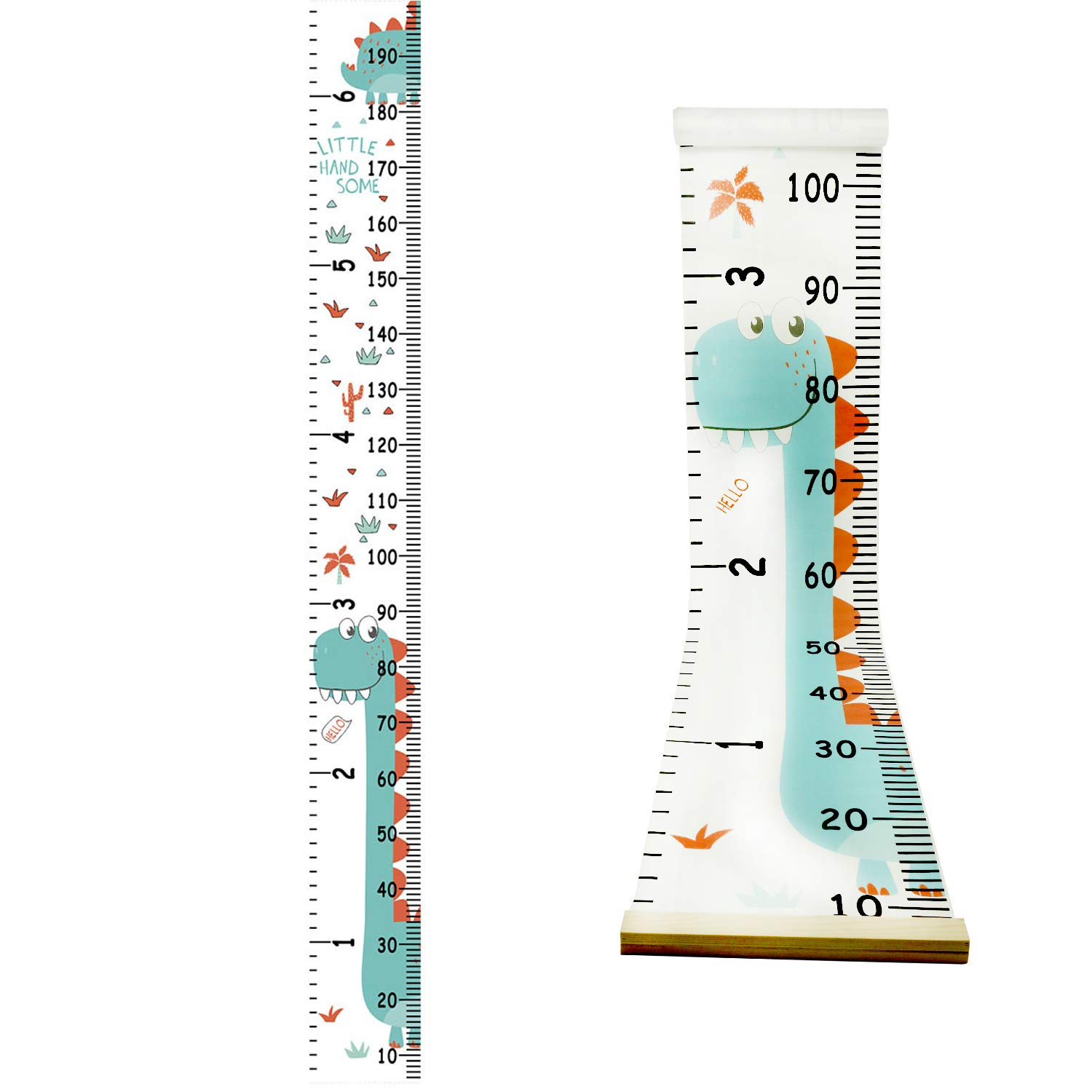 Growth Chart for Kids,Height Chart,Wall Ruler Removable Height Measure Chart Hanging Ruler for Toddler Height Wall Chart for Boy Girl Room Decor Wall Decor (Dinosaur)