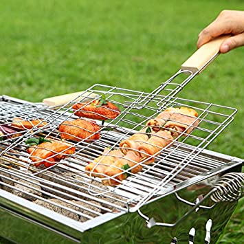Amazon.com : [Free Shipping] BBQ Tools Meshes Folder Fish ...