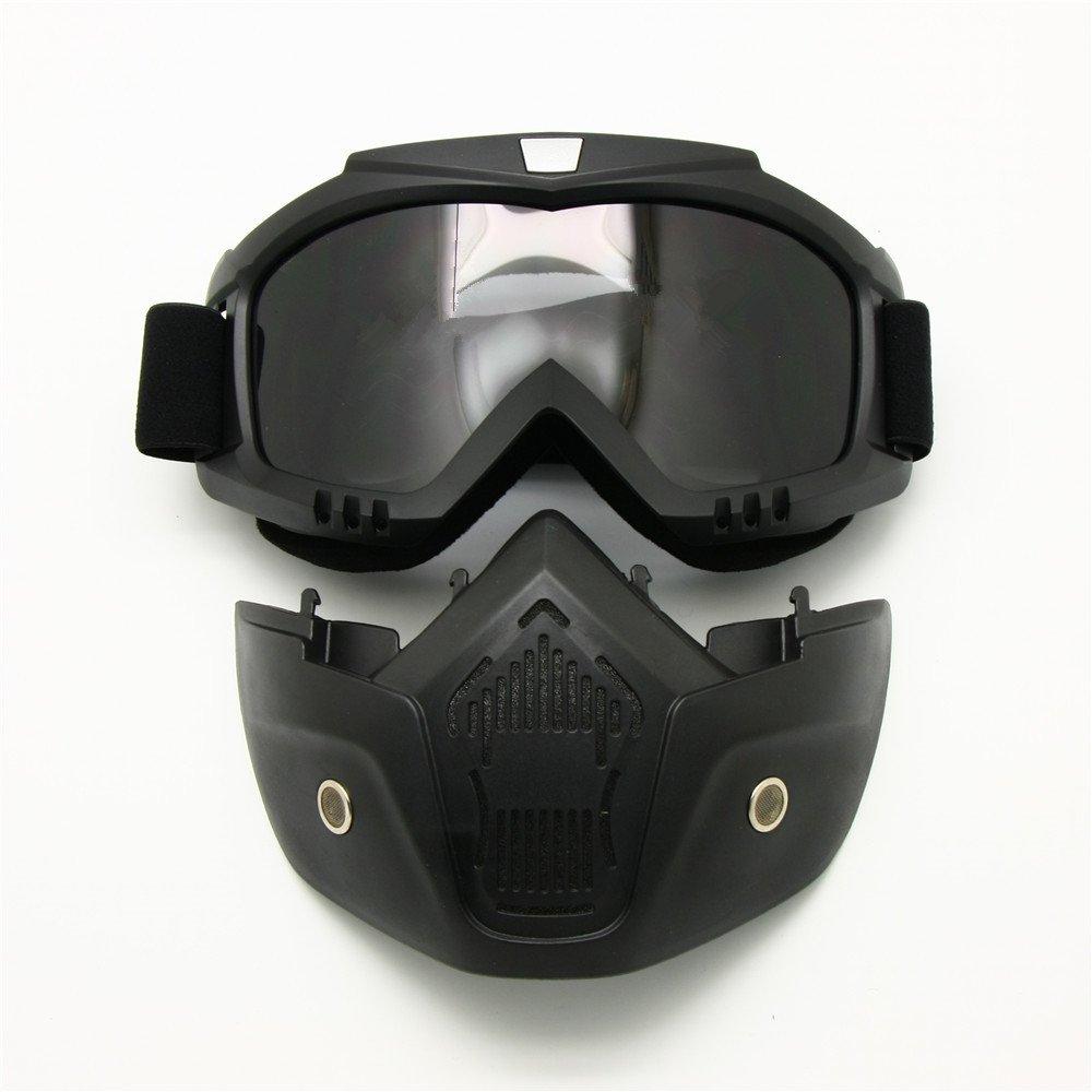 Gafas para moto con máscara desmontable. Opción de diferentes lentes.