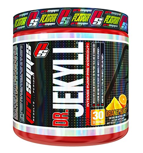 ProSupps Dr Jekyll Intense Pump Pre Workout Pikatropin Free Formula, Orange Burst, 11.4 Ounce (Dr Jekyll And Mr Hyde Pre Workout Stack)