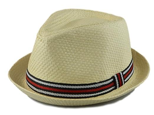 61f79ac7297ad How D Hats Men s Fedora Cuban Style Upturn Short Brim Hat - Beige ...