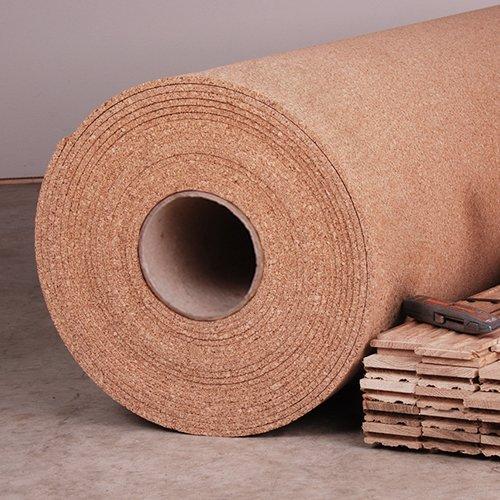 Manton Cork Underlayment, 100% Natural, - 4' x 50' x 6mm - Rolls 200 Sq. (Cork Tile Underlayment)