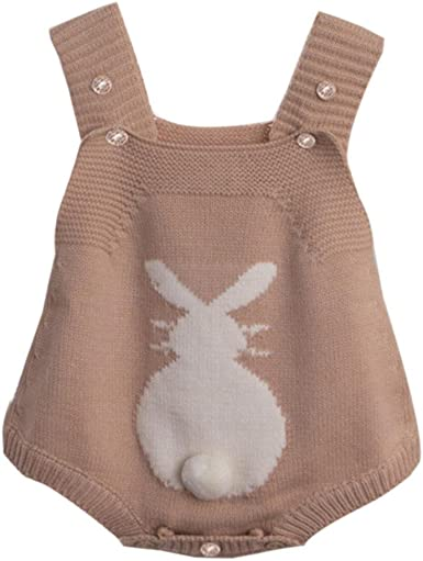 Newborn Infant Baby Boy Girl Rabbit Romper Knitted Bunny Jumpsuit Outfit Clothes
