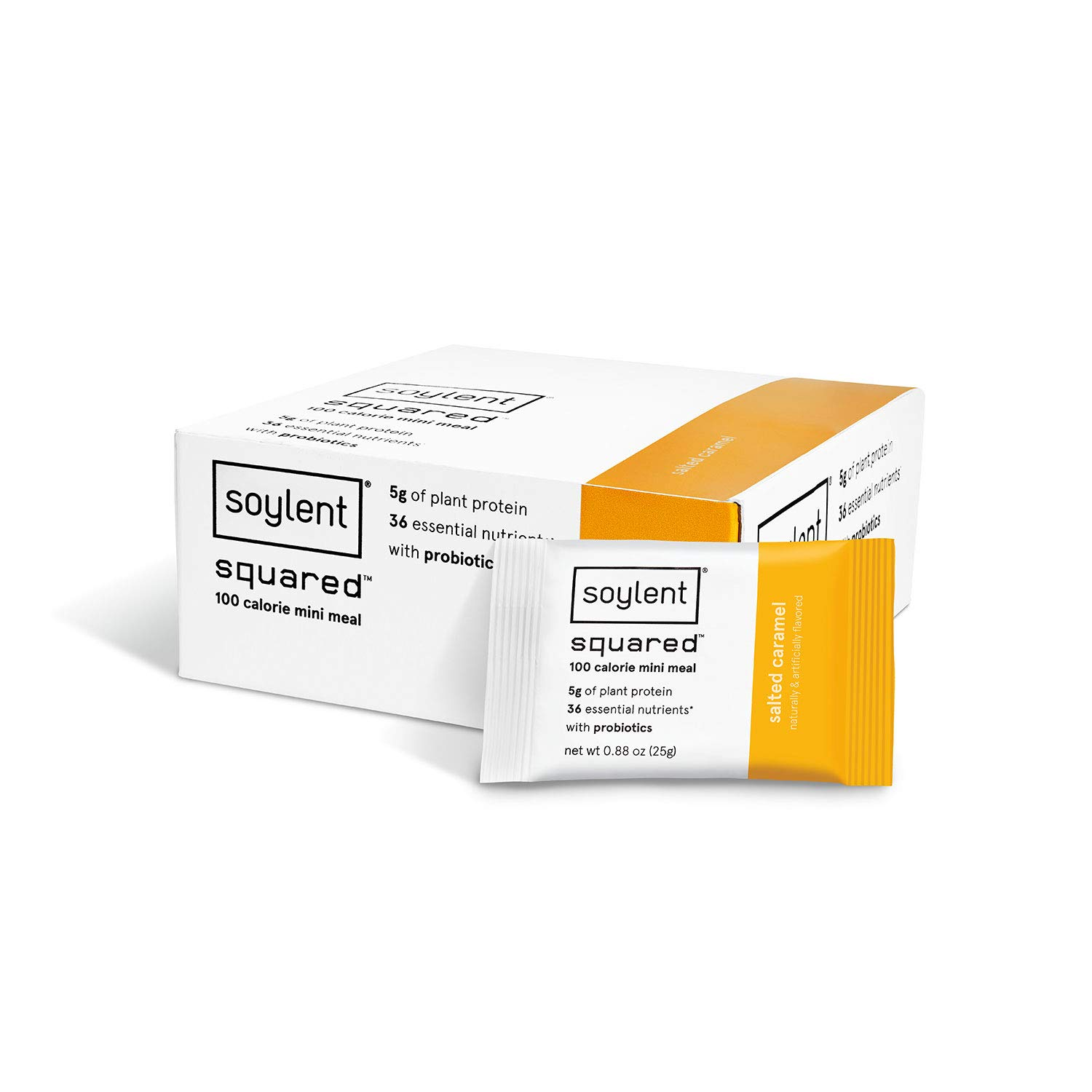 NEW Soylent Squared, 100-Calorie Protein Bar, Salted Caramel, 30 Count by Soylent
