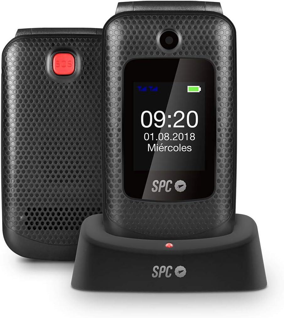 SPC Goliath - Teléfono móvil con botón de emergencia SOS – Color Negro