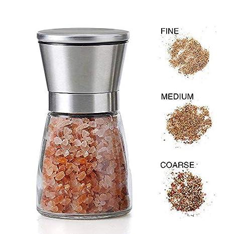 Molinillo de sal y pimienta de acero inoxidable cepillado ...