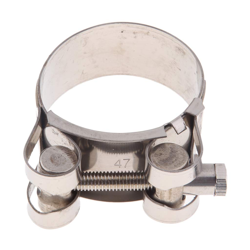 40-43mm B Blesiya Motorcycle Exhaust Pipe Clamp Clip 32-35//36-39//40-43//44-47//48-51//52-55mm