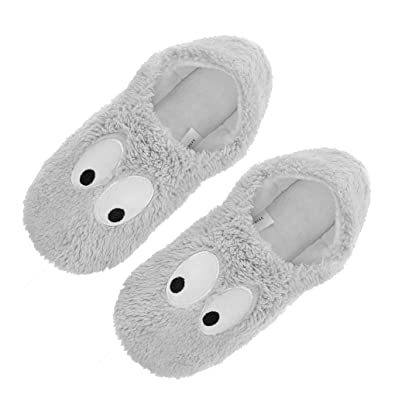 de88d50b5 Womens Indoor Warm Fleece Slippers, Ladies Girls Lovely Cartoon Winter Soft  Cozy Booties Non-