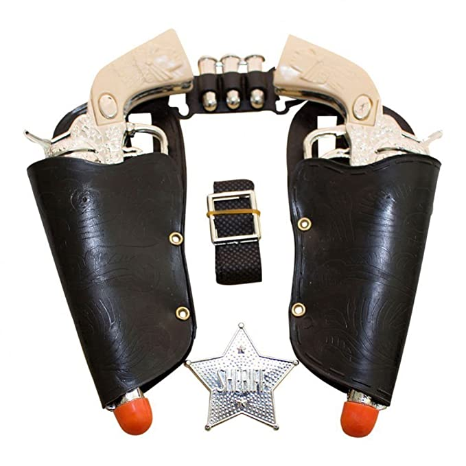 Play Kreative Western Toy Cowboy Gun & Holster Set with Sheriff Badge and Belt