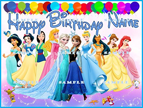 Amazon.com: Disney Princess: personalizada imagen torta de ...