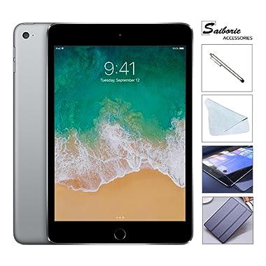 Apple iPad Mini 4 128GB W/Saiborie 49.99 Value Accessories, 7.9  Retina Display, 2GB RAM, Dual-Core A8 Chip, Quad-Core Graphics, Wi-Fi, MIMO, Bluetooth, Apple iOS 9 (Space Gray)