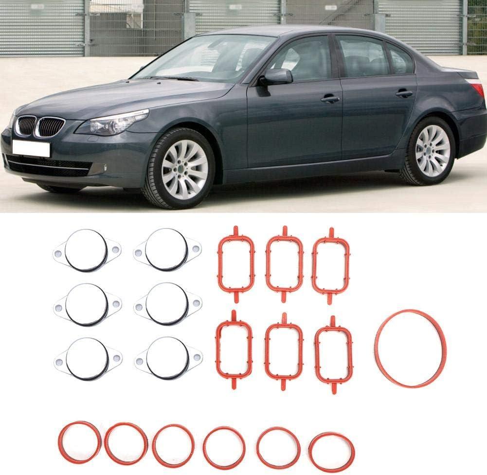 Cuque 6 Pcs 1.3 Inch Car Diesel Swirl Flap Aluminum and ABS Plastic Auto Engine Manifold Swirl Flap Blank Repair Delete Kit Replacement Fits for M57 E38 E39 E46 E53 E60 E61 E70 E83 E90 E91