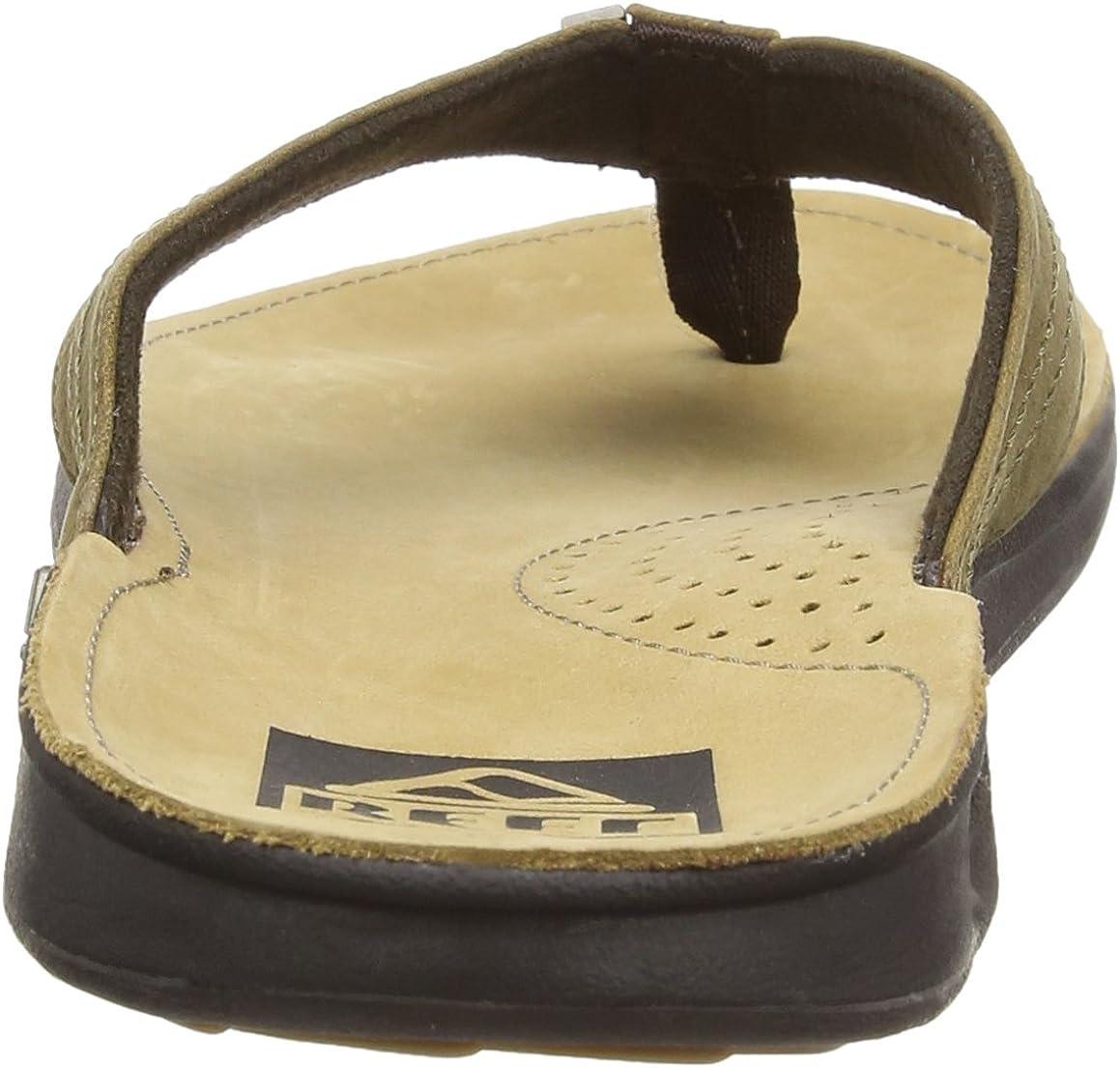 Comfortable Leather Flip Flops for Men Reef Mens Leather Sandals J-Bay III