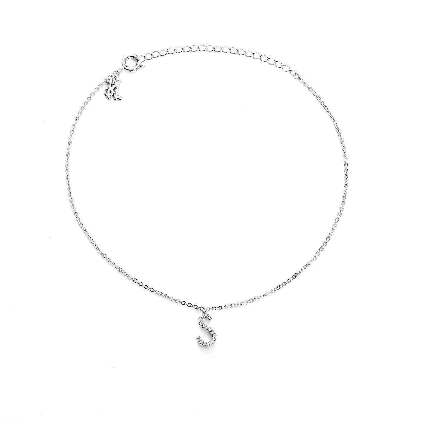 Blinglane Your Initial S Fashion Anklet Jewelry Women