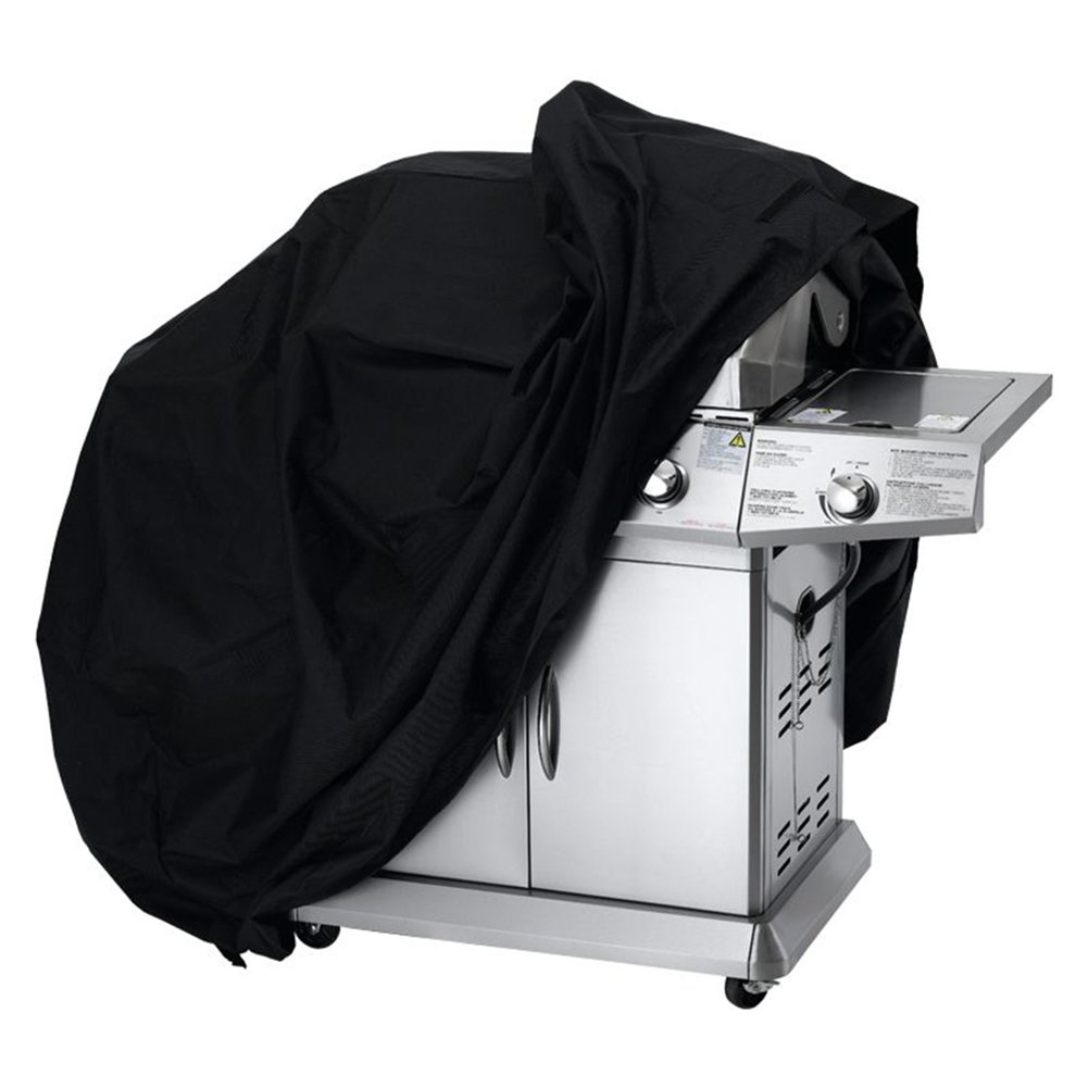 LITTLEGRASS BBQ Grill Cover 74x24x46'' Outdoor Patio Garden Gas Barbecue Smoker Cover Waterproof UV Resistant with Elastic Strap and Storage Bag for Weber, Holland, JennAir, Brinkmann and Char Broil by LITTLEGRASS (Image #7)