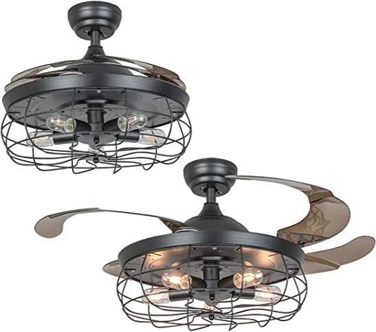 Black Caged Ceiling Fan