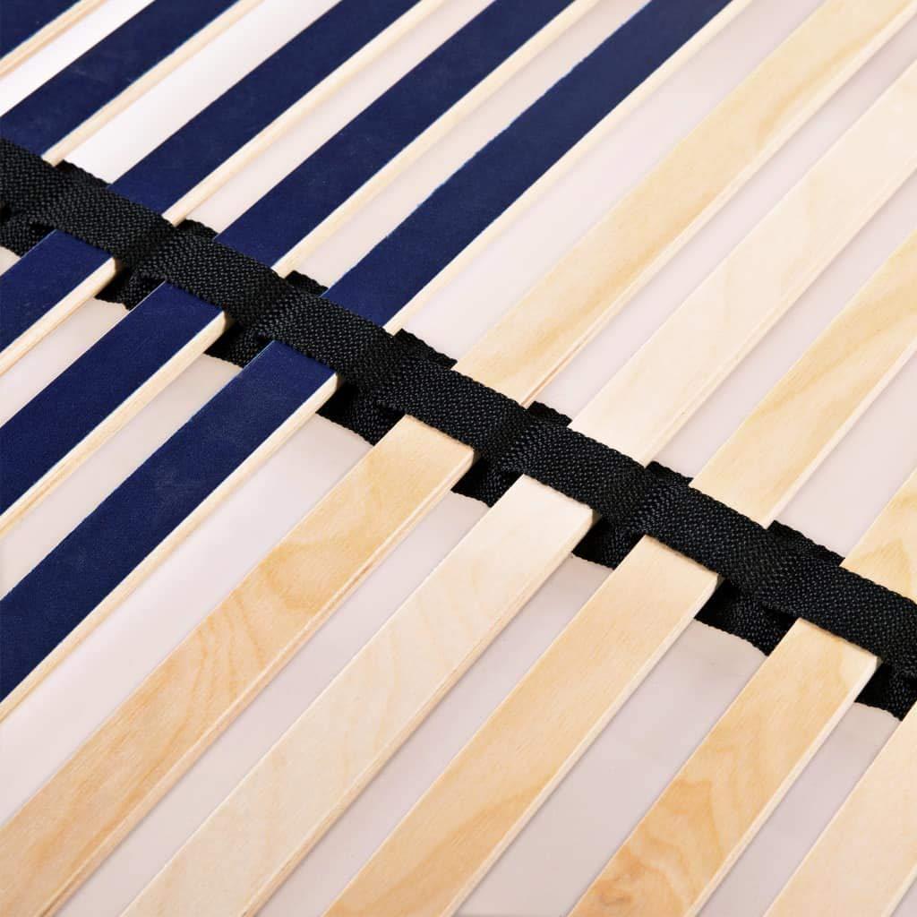 vidaXL Rete a Doghe 7 Zone con 42 Doghe 70x200 cm Struttura Telaio Giroletto